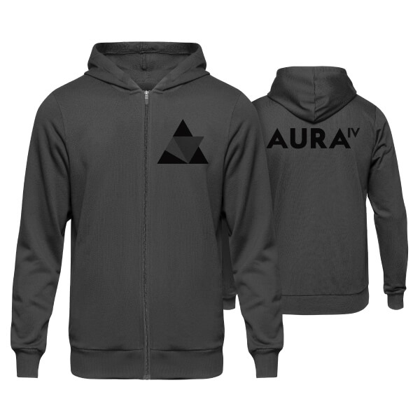 Aura IV Charcoal Zip-Up Hoodie
